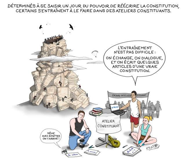 Ateliers constituants et RIC (référendum d'initiative citoyenne en toutes matières), explications théoriques et conseils pratiques
