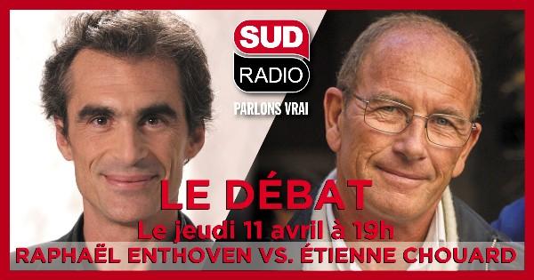 Deuxième rencontre avec Raphaël Enthoven, sur Sud Radio, jeudi 11 avril 2019 de 19 h à 20 h.