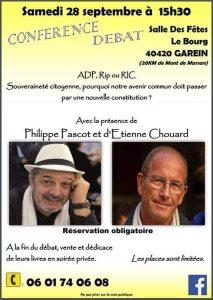 Rendez-vous à Garein (près de Mont-de-Marsan) samedi 28 septembre 2019, avec Philippe Pascot