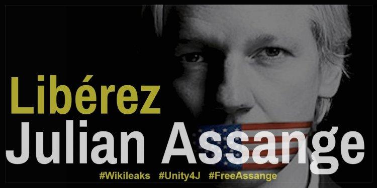 Tous ensemble à Londres, le 24 février 2020, pour soutenir Julian Assange, journaliste exemplaire et pourtant emprisonné depuis 2012 et aujourd'hui torturé