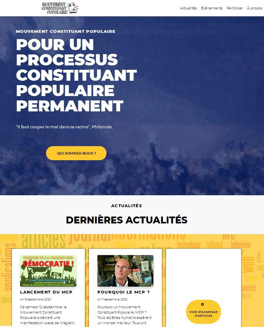POURQUOI UN MOUVEMENT CONSTITUANT POPULAIRE PERMANENT (MCP)?