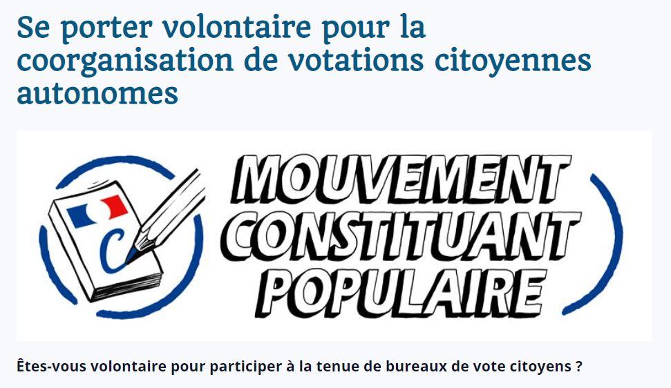 Appel à participer à des bureaux de vote citoyens