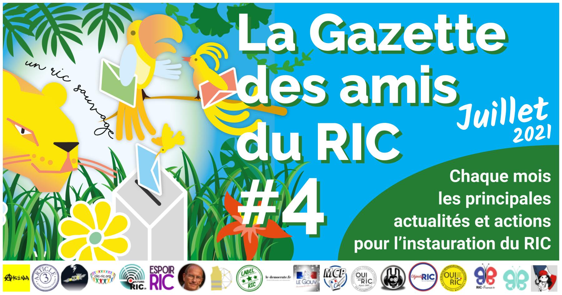 La Gazette des Amis du RIC de juillet