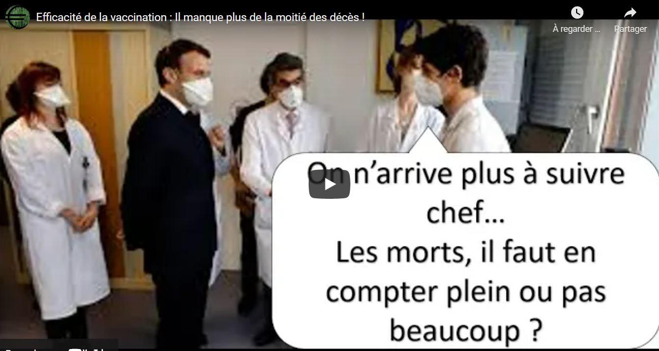 [Abus de pouvoir, fake-news officielles] Les chiffres de la DREES — qui justifient les persécutions des opposants politiques en France — sont grossièrement FAUX: «Efficacité de la vaccination: Il manque plus de la moitié des décès!» par Pierre Chaillot