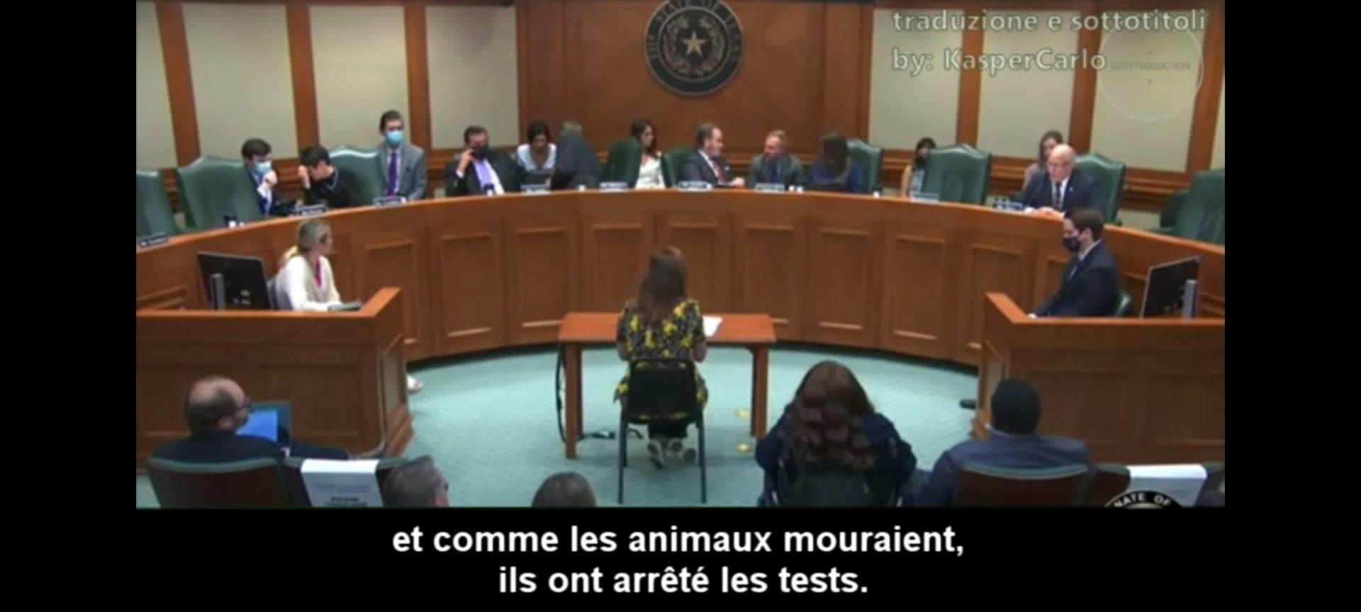 [abus de pouvoir] [injection expérimentale obligatoire chez nos enfants] Témoignage d'une médecin pédiatre texane, Angelina Farella, devant le Sénat
