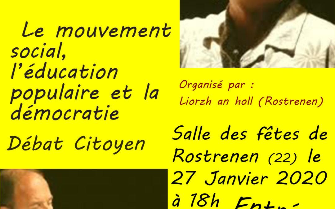 Rendez-vous le 27 janvier 2020 à Rostrenen, en Bretagne, avec Franck Lepage